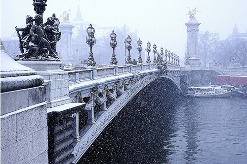 As mais belas fotos de Paris sob neve (5/5)