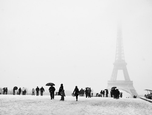 As mais belas fotos de Paris sob neve (1/5)
