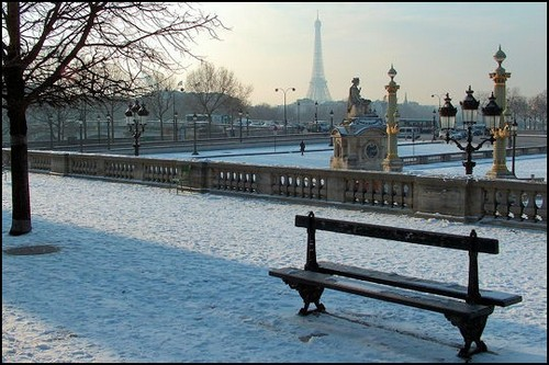 As mais belas fotos de Paris sob neve (3/5)