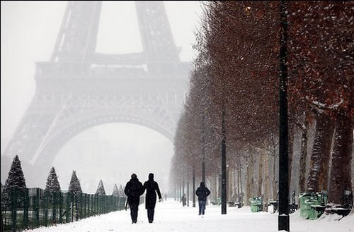 As mais belas fotos de Paris sob neve (4/5)